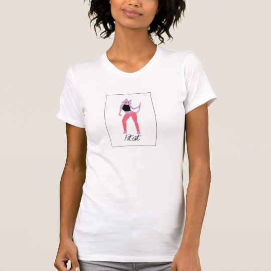 T-Shirt mit Katzengraphik