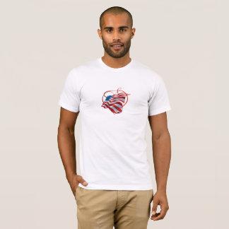 T - Shirt mit schöner amerikanischer Flagge und