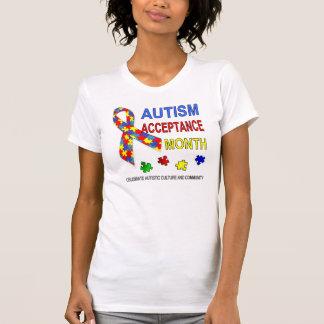 T-shirt Mois d'acceptation d'autisme de mois de