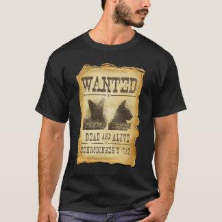T-shirt Morts et vivant voulus.  Le chat de Schroedinger