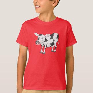 T-shirt noir et blanc de vache