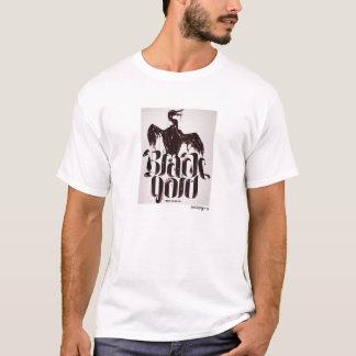 T-shirt noir poopy d'or