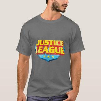 T-shirt Nom de ligue de justice et logo de bouclier