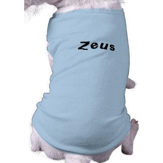 T-shirt nommé de Zeus pour des chiens