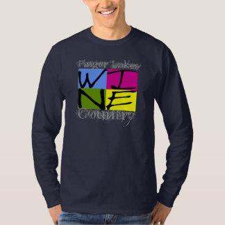 T-shirt Pays de vin de lacs finger