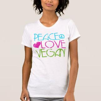 T-shirt . Peace.Love.Vegan.