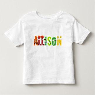 T-shirt personnalisable de lettre de monstre