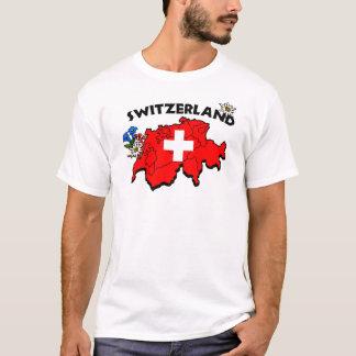 T-shirt Pièce en t de carte de Switz