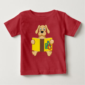 T-shirt Pour Bébé dog with book