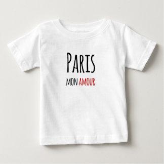 T-shirt Pour Bébé Paris, Mon amour