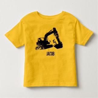 T-shirt Pour Les Tous Petits Chemise personnalisée d'excavatrice