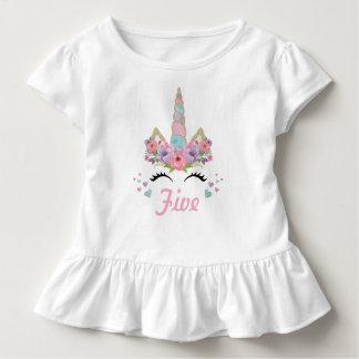 T-shirt Pour Les Tous Petits Équipement de fête d'anniversaire de licorne