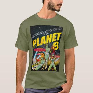 T-shirt Poussins de l'espace de couleur de la planète