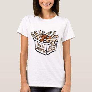 T-shirt poutine d'amour