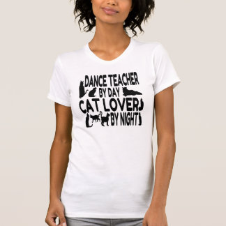 T-shirt Professeur de danse d'amoureux des chats