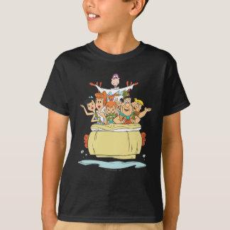 T-shirt Promenade en voiture de famille de Flintstones
