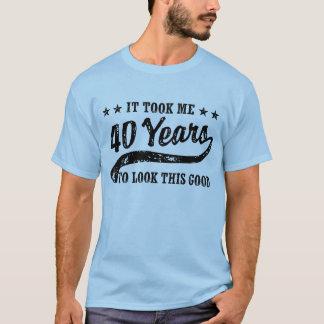 T-shirt Quarantième anniversaire drôle