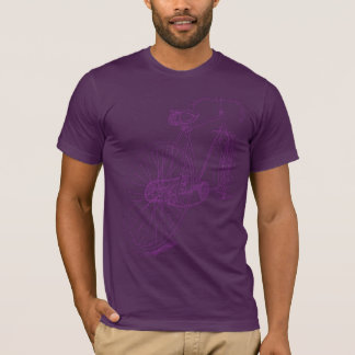 T-shirt Rétro conception de dessin de bicyclette dans le