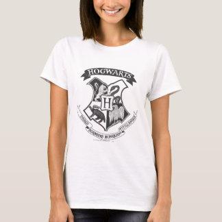 T-shirt Rétro Hogwarts crête de Harry Potter |