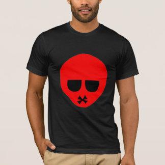 T-shirt rouge de tête d'emo personnalisable