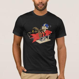 T-shirt Rouge Rocket d'E. Coyote Launching de Wile