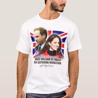 T-shirt royal de mariage de William et de Kate