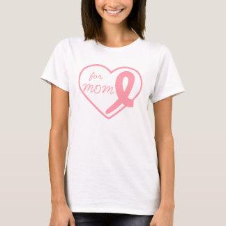 T-shirt Ruban de coeur de cancer du sein personnalisable