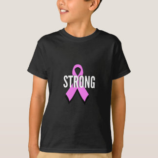 T-shirt Ruban fort de rose de cancer du sein de Cancer de