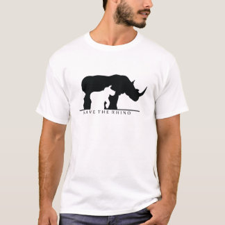 T-shirt Sauvez le rhinocéros (le ver blanc.)