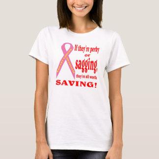 T-shirt Sauvez le sein. Cancer de sein