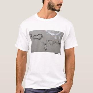 T-shirt Sentiments dans le sable