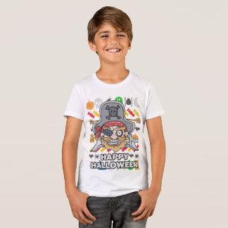 T-shirt Style laid Halloween heureux de chandail de pirate