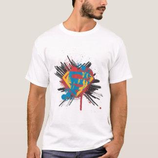 T-shirt Superman a stylisé le logo d'éclaboussure de  