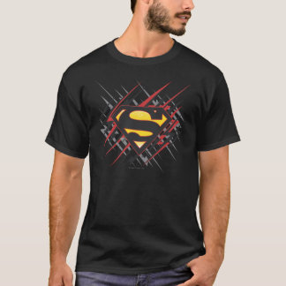 T-shirt Superman a stylisé | logo noires et de rouge de