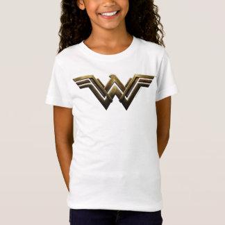 T-Shirt Symbole métallique de femme de merveille de la