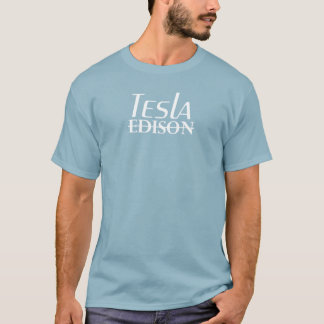 T-shirt Tesla contre Edison