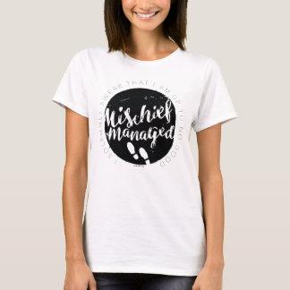 T-shirt Typographie de charmes de la carte du maraudeur de