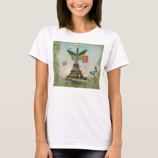 t-shirt Umdrehung Eiffel Schmetterling