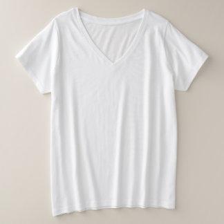 T - Shirt V-Hals der Plus-Size der Frauen