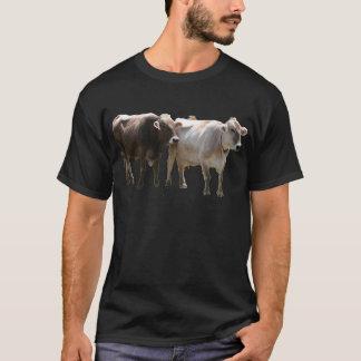 T-shirt Vaches à Suisse de Brown