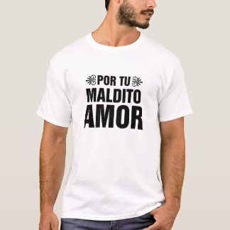 T-Shirt Vicente Fernandez - Texte Letra Camiseta