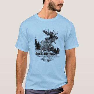 T-shirt Vieille chemise grande d'orignaux