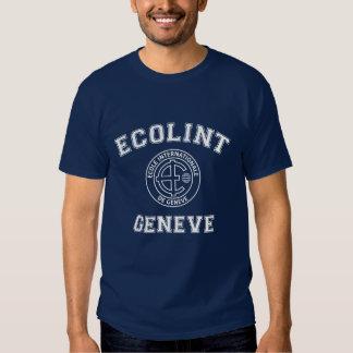 T-shirt vintage de base d'Ecolint de conception