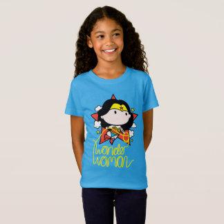 T-Shirt Vol de femme de merveille de Chibi avec le lasso