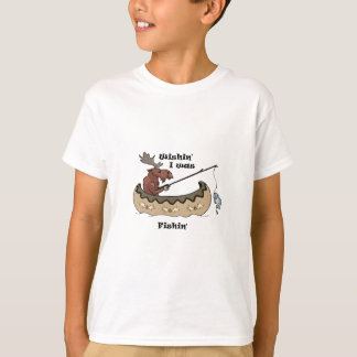 T-shirt Wishin I pêchait la pêche d'orignaux