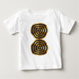 T - Shirtgrußaufkleber goldene Welle Baby T-shirt