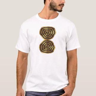 T - Shirtgrußaufkleber goldene Welle T-Shirt