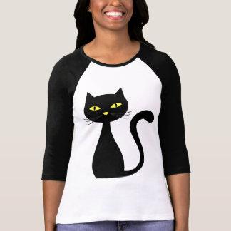 T-shirts de Halloween de chat noir