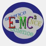 T-shirts de la Science d'enfants et cadeaux Autocollant Rond