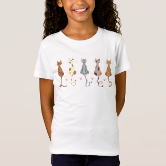 T-Shirts des Katzen-Liebe die angepassten Bella